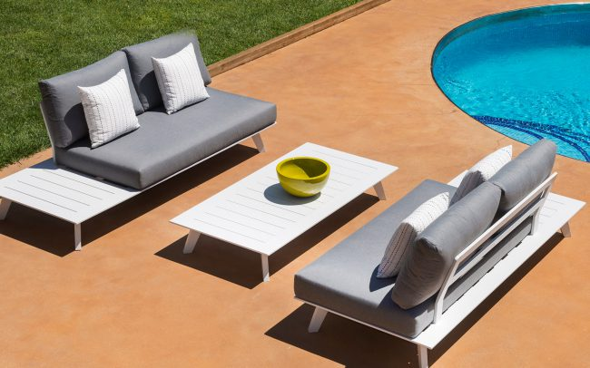 POSITANO – Outdoor Aluminum Sofa Set