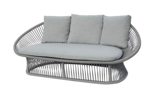 Spade Aluminum round rope sofa, two seater, without cushion