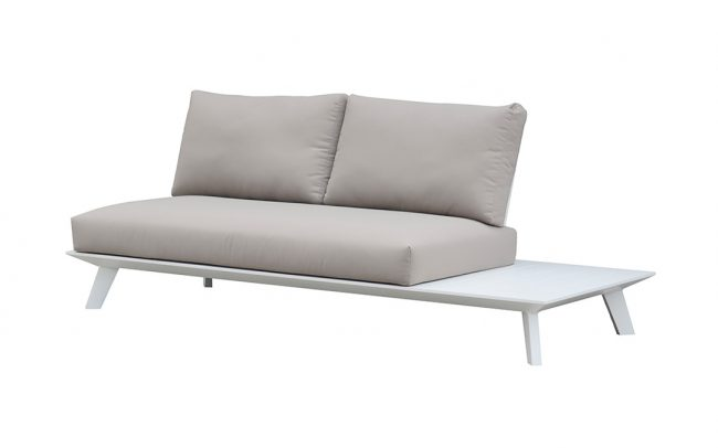 Positano aluminum sofa, two seaters, without armrest
