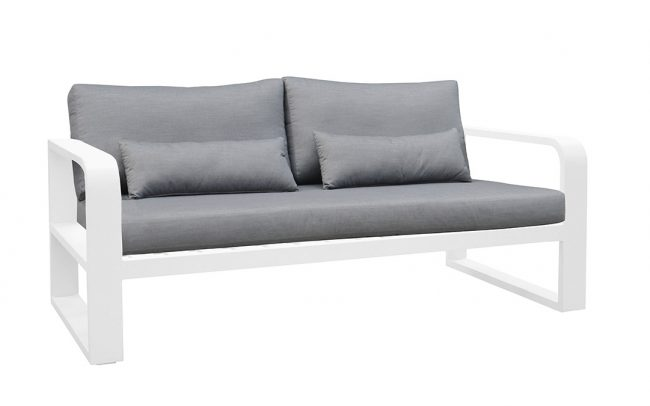 Fermo Aluminum sofa, two seater, with two armrests
