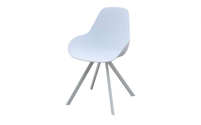 Neverland Aluminum chair, with plastic seat