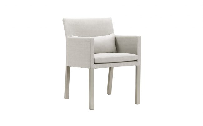 Lisbon Aluminum sling-covered dining chair