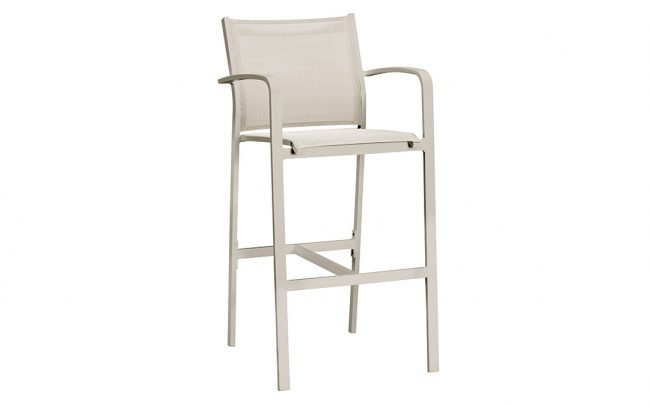 Luis Aluminum Padded Sling Outdoor Patio bar chair