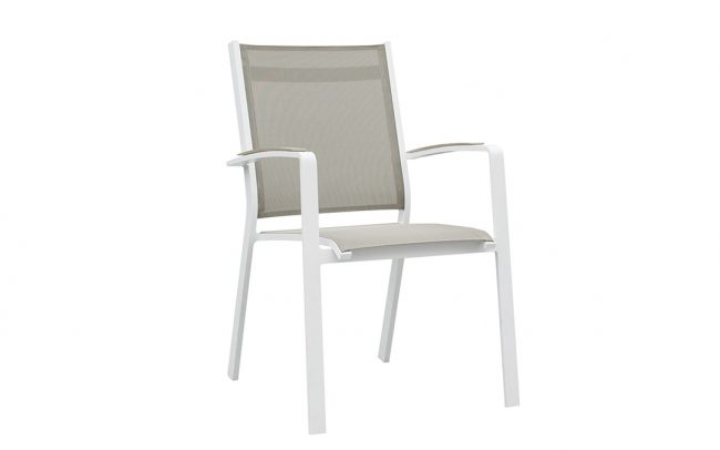 Cosmo Aluminum Sling Outdoor Dining Chairs