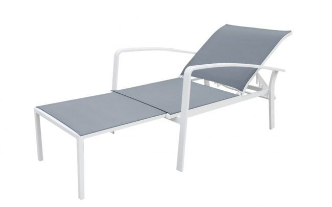 Cosmo Aluminum/sling sunlounger