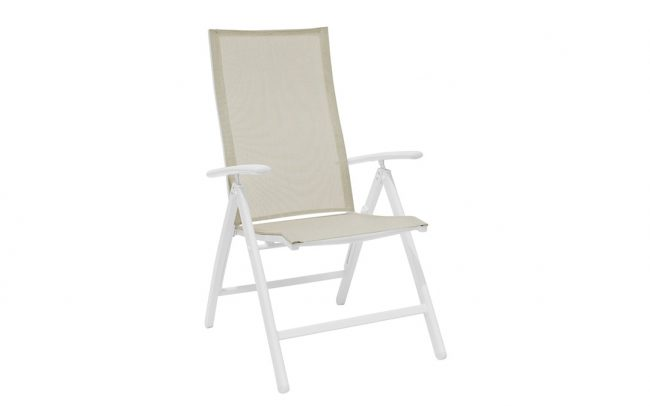 York Aluminum sling position outdoor dining chair