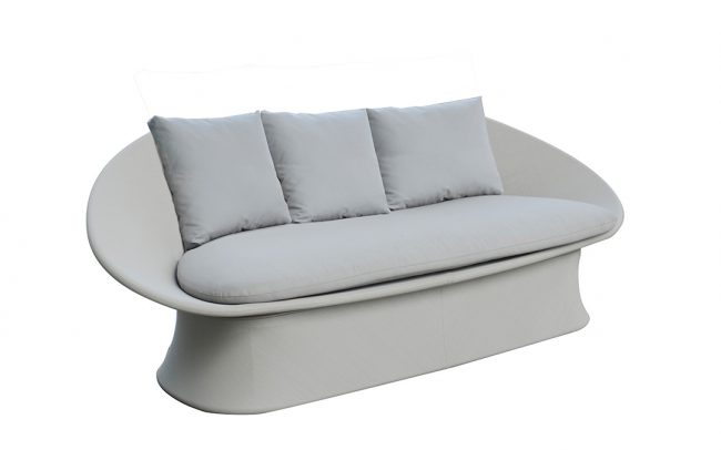 Spade Aluminum Sling-covered Sofa, Two Seater