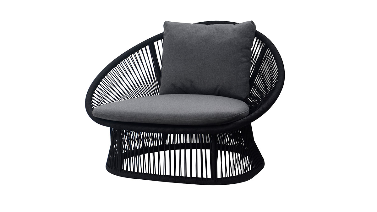 Spade Aluminum round rope sofa, one seater, without cushion