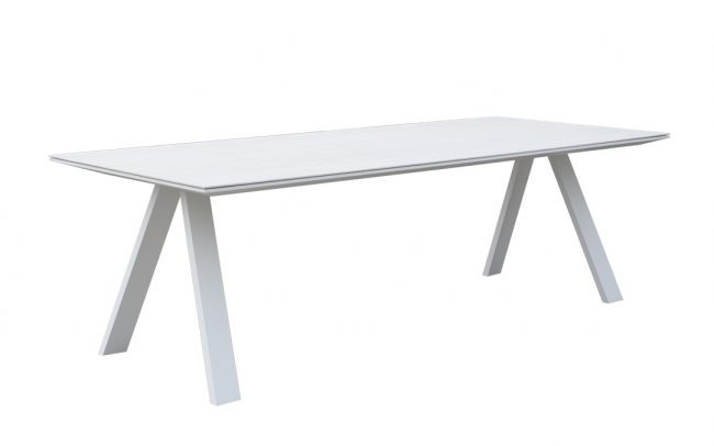 Neverland Aluminum/ceramic dining table, with 6mm ceremic top