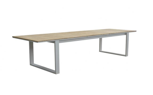 Fermo Aluminum/Teak Extension Dining Table