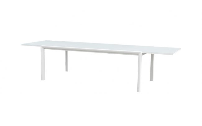 Themis Aluminum Modern glass extension dining table furniture