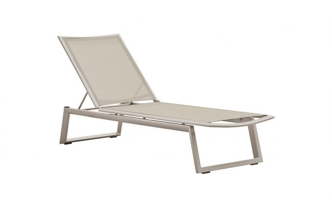 Themis Aluminum sling sun outdoor lounger garden furniture